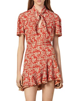 Sandro - Lane Paisley Mini Dress