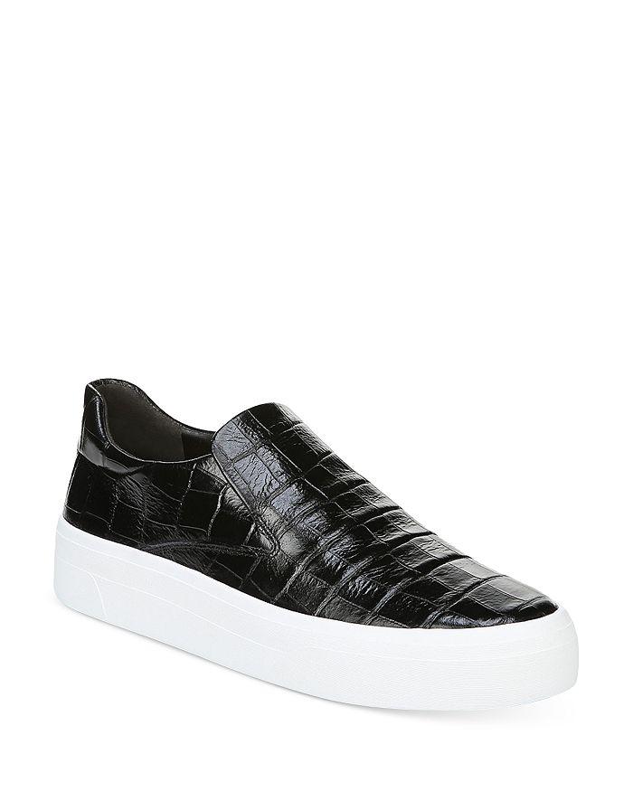 Via Spiga - Women's Velina Croc-Embossed Flatform Sneakers