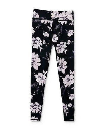 Spiritual Gangster - Girls' Floral Logo Leggings - Big Kid
