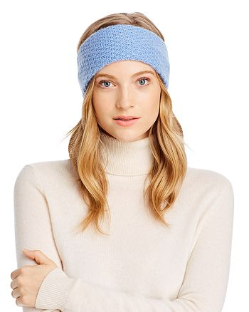 C by Bloomingdale's - Waffle-Knit Cashmere Headband - 100% Exclusive
