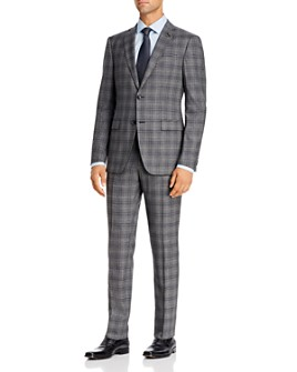 John Varvatos Star USA - Windowpane Plaid Slim Fit Suit Separates