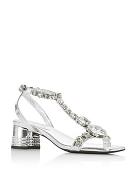 Jeffrey Campbell - Women's Embellished T-Strap Sandals