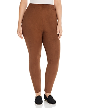 Lysse Plus High Rise Faux Suede Leggings