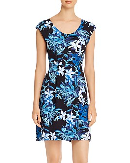Tommy Bahama - Floraiana Printed Cap-Sleeve Dress