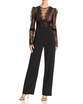 BRONX AND BANCO - Lolita Metallic Illusion Lace Jumpsuit