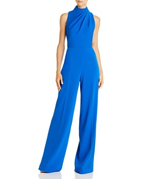 Jay Godfrey - Tommy Ruched High Neck Jumpsuit