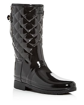 Hunter - Women's Refined Quilted Gloss Rain Boots