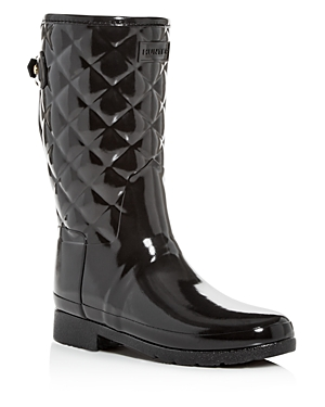 Women's Refined Quilted Gloss Rain Boots