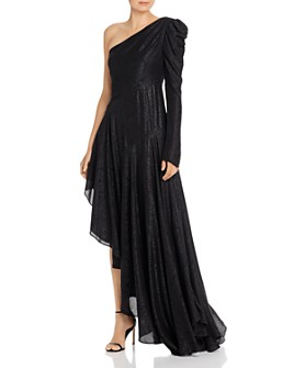 Amur - Asymmetric One-Shoulder Shimmer Dress