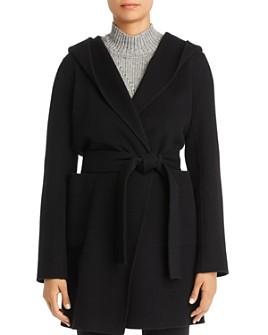 Elie Tahari - Shea Hooded Wool-Blend Wrap Coat