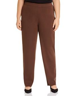 Misook Plus - Wrinkle-Resistant Straight-Leg Knit Pants