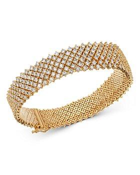 Bloomingdale's - Diamond Flexible Statement Bracelet in 14K Yellow Gold, 10.0 ct. t.w. - 100% Exclusive