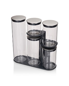 Joseph Joseph - Podium™ 100 5-Piece Glass Storage Jar Set with Stand