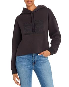 Levi's - Embroidered Fleece-Lined Raw-Hem Hoodie