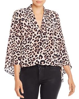 Generation Love - Nina Leopard Print Silk Top