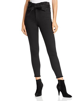 Alice and Olivia - Good Paperbag-Waist Skinny Jeans in Night Fever