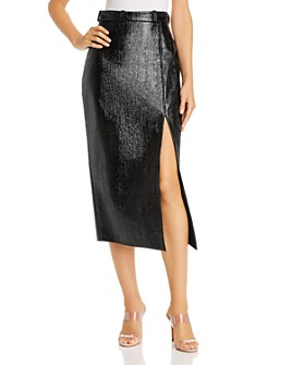 David Koma - Textured Midi Skirt