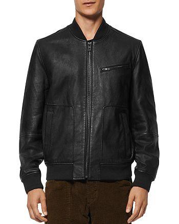 Andrew Marc - Praslin Leather Bomber Jacket