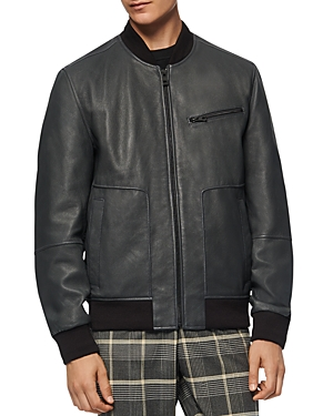 Andrew Marc Praslin Leather Bomber Jacket