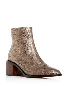 Clergerie - Women's Xenia Pointed-Toe Block-Heel Booties