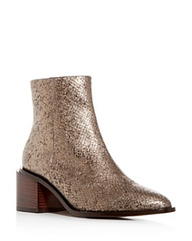 Clergerie - Women's Xenia Pointed-Toe Block-Heel Booties
