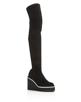 Clergerie - Women's Belize Platform Wedge Over-the-Knee Boots