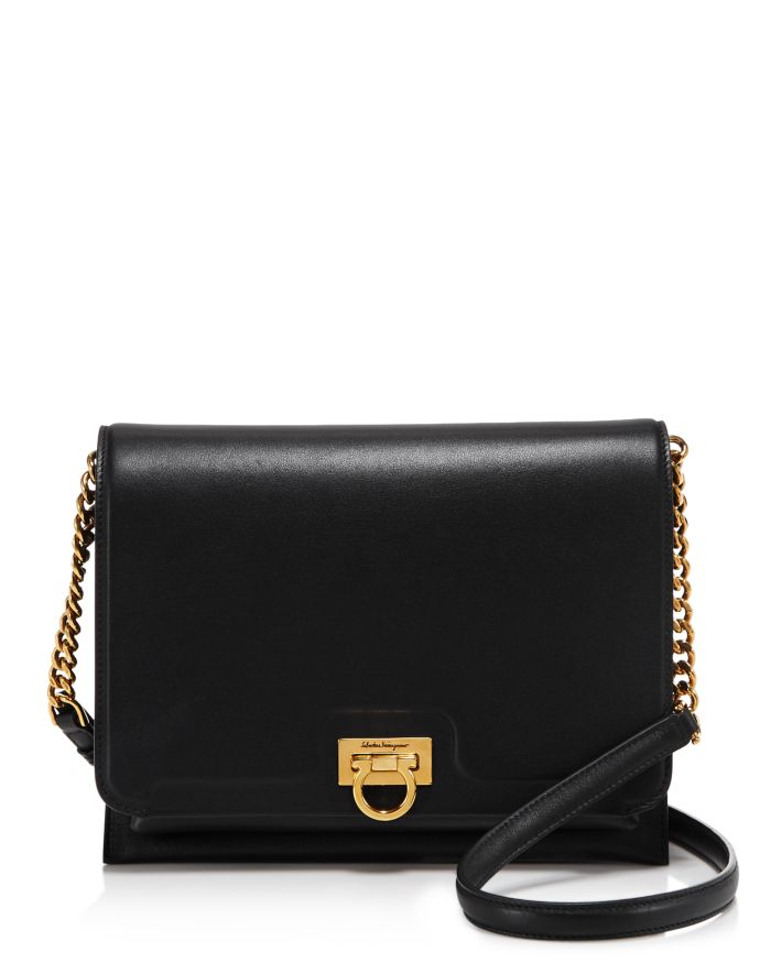 Salvatore Ferragamo Gancini Medium Square Shoulder Bag    Bloomingdale's