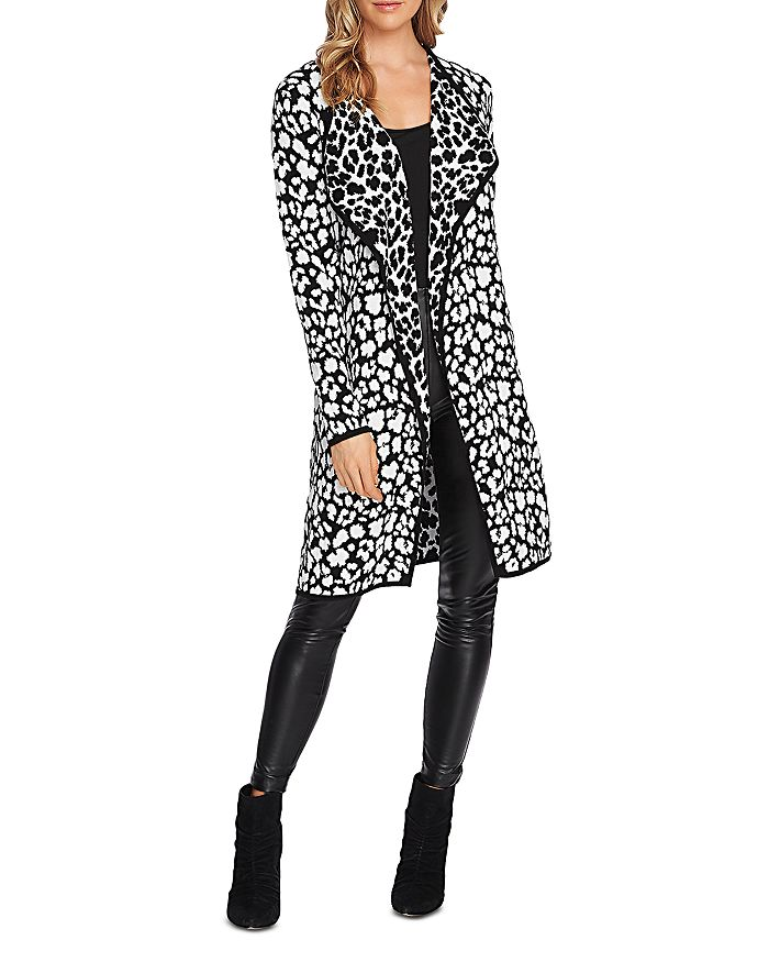 Vince Camuto Tops CHEETAH OPEN DUSTER CARDIGAN