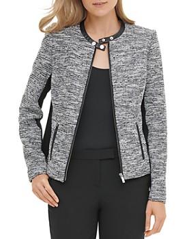 Calvin Klein - Tweed Moto Jacket