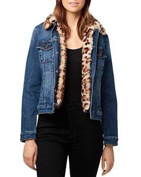 Sanctuary - Kylie Leopard Faux-Fur Denim Jacket