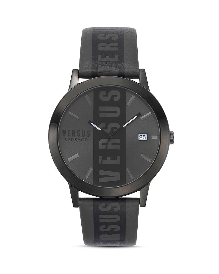 Versus Versace - Barbes Leather Strap Watch, 44mm