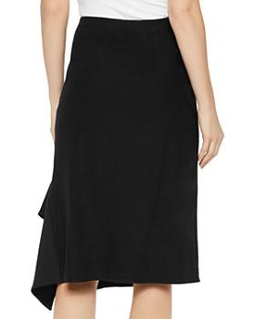 Misook - Side-Drape Midi Skirt