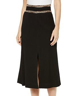 Misook - Trimmed-Waist Midi Skirt