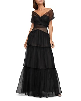 BCBGMAXAZRIA - Tiered Tulle Gown