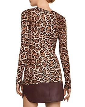 BCBGMAXAZRIA - Leopard Print Top