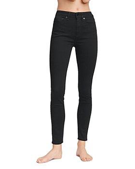 rag & bone - Nina High-Rise Skinny Jeans in No Fade Black
