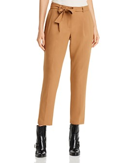 Calvin Klein - Belted Straight-Leg Ankle Pants