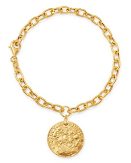 Bloomingdale's - Coin Drop Chain Bracelet in 14K Yellow Gold - 100% Exclusive