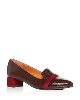 Chie Mihara - Women's Roz Snake-Embossed Block-Heel Loafers