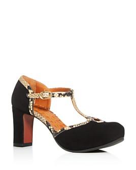Chie Mihara - Women's Ibis T-Strap Platform Sandals