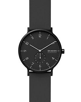Skagen - Aaren Kulør Black Silicone Strap Watch, 41mm