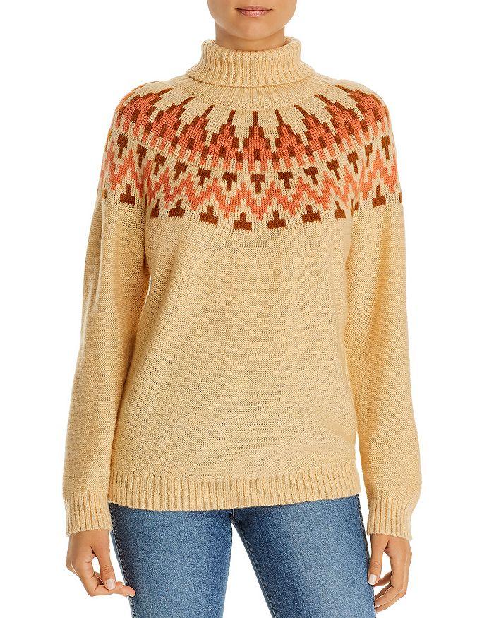 Alison Andrews Fair Isle Turtleneck Sweater In Remote Fair Isle