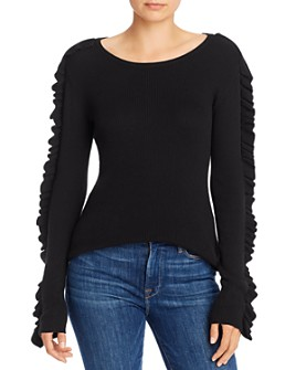 See by Chloé - Ruffled Lightweight Ribbed Sweater