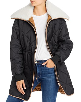 See by Chloé - Quilted Puffer Coat with Sherpa Collar