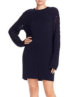 See by Chloé - Ribbed Long Sleeve Shirt Dress