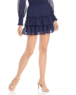 AQUA - Ruffled Clip-Dot Skirt - 100% Exclusive