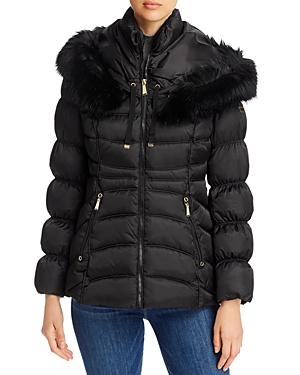 Faux Fur Trim Short Puffer Coat