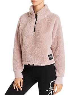 Calvin Klein - Quarter-Zip Fleece Sweatshirt