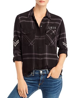 Rails - Pepper Military Plaid Shirt