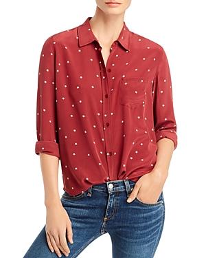 Rails Kate Star Print Silk Shirt